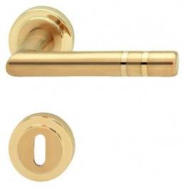 Hafele - Комплект ручок CB8 латунь,мат./пол. PVD - 900.91.025