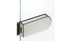 Hafele - Відповідна частина до замка для скляних дверей, нержавіюча сталь матова - 981.01.910