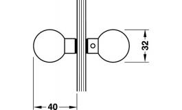 Hafele - Ручка - кнопка для скляних дверей, коричн.хром, по - 981.10.028