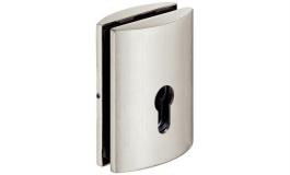 Hafele - Замок PC для розсувних скляних дверей, корпус - латунь нікельована матова - 981.14.736