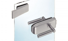 Hafele - Комплект замка UV з петлями з 2-ох частин, кришки нержавіюча сталь матова модель 202 - 981.16.000