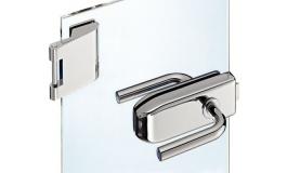 Hafele - Комплект замка UV модель 203 з трьох частин нержавіюча сталь матова - 981.16.010