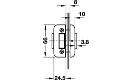 Hafele - Замок UV нержавіюча сталь матова модель 202 та 203 - 981.16.550