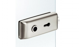 Hafele - Замок PC для скляних дверей алюміній хромований матовий - 981.16.754