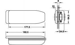 Hafele - Відповідна планка/корпус нержавіюча сталь матова - 981.16.900