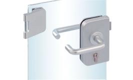 Hafele - Комплект замка CB алюміній колір сріблястий з трьох частин лівий - 981.25.261