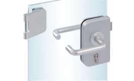 Hafele - Комплект замка PC алюміній колір сріблястий з трьох частин лівий - 981.25.461