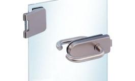 Hafele - Комплект замка для скляних дверей ванної кімнати з 3 частин алюміній колір нержавіюч.сталь - 981.25.630