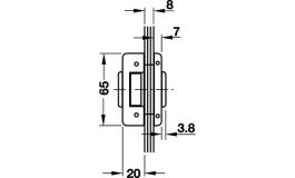 Hafele - Замок PC алюміній колір: нержавіюча сталь - 981.26.430