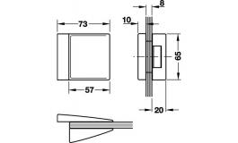 Hafele - Відповідна частина алюміній колір: нержавіюча сталь модель 24.220 - 981.26.810