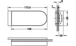 Hafele - Відповідна частина до замка латунь хромована полірована - 981.26.832