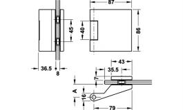 Hafele - Комплект петель алюміній колір: нержавіюча сталь (3 частини) - 981.27.260