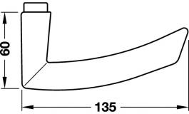 Hafele - Комплект ручок для дверей,алюм,срібляст. - 981.27.951