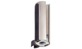 Hafele - Рамна частина петлі BEYOND з кріпленням скло/скло 10мм алюміній колір: нержавіюча сталь - 981.29.040