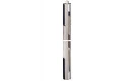 Hafele - Фурнітура поворотна BEYOND довга для скла 12мм алюміній колір: срібний - 981.29.071