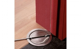 Hafele - Фурнітура для 1-створч.маятникових дверей Visur з суцільного скла для товщ.10-12мм алюм. вага дверей 85 кг - 981.29.401