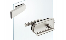 Hafele - Комплект замка UV нержавіюча сталь матова (2 частини) - 981.49.201
