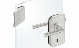Hafele - Комплект замка СВ алюміній колір: срібний (3 частини) - 981.49.246