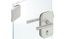 Hafele - Комплект замка РС алюміній колір: срібний (3 частини) - 981.49.250