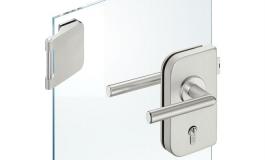 Hafele - Комплект замка РС алюміній, колір: срібний (3 частини) - 981.49.254