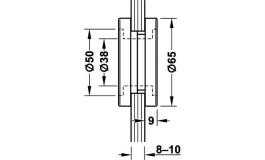 Hafele - Ручка врізна нержавіюча сталь матова 65мм - 981.49.310