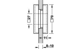 Hafele - Ручка врізна алюміній нержавіюча сталь, анодована 70х70мм - 981.49.330