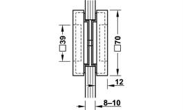 Hafele - Ручка врізна алюміній нержавіюча сталь, анодована 70х70мм - 981.49.340