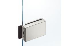 Hafele - Відповідна частина замка для скланих дверей, нержавіюча сталь матова - 981.49.440