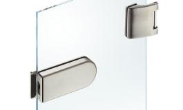 Hafele - Комплект відповідної частини до замка і 2 петль для скляних дверей - 981.49.602