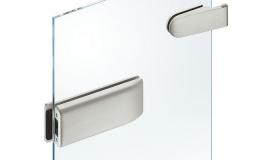 Hafele - Комплект відповідної частини до замка і петель, алюміній колір: срібний (2 частини) - 981.49.605