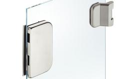 Hafele - Комплект відповідної частини до замка і петель для скляних дверей нержавіюча сталь матова (3 частини) - 981.49.614