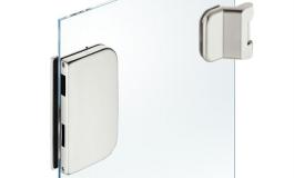 Hafele - Комплект відповідної частини до замка і петель для скляних дверей алюміній колір: срібний (3 частини) - 981.49.615