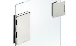 Hafele - Комплект відповідної частини до замка і петель для скляних дверей нержавіюча сталь матова (3 частини) - 981.49.619