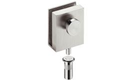 Hafele - Рігель закріплюючий для скляних дверей товщина скла 8-10 мм мат. нержав. сталь - 981.49.910
