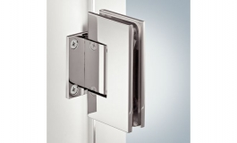 Hafele - Петля для дверей душ.кабіни AquaSys пряма лат. хром. пол.90град. кут розкр. в обидві сторони для прикруч. до стіни навант.до 30 кг товщ.скла 8-12мм - 981.53.152