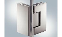 Hafele - Петля для дверей душ.кабіни AquaSys  під кутом 90 гр.лат. хром. пол.90град. кут розкр. в об.стор.для прикруч. до стіни нав.до 30 кг товщ.скла 8-12мм - 981.53.162