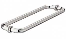 Hafele - Дверна ручка для скла товщиною 8 - 12 мм латунь хром. поліров. 425 мм - 981.53.292