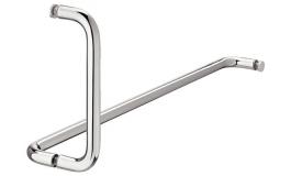Hafele - Комплект дверних ручок для товщини скла 8-12мм латунь хромована полірована - 981.53.302