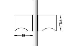 Hafele - Ручка-кнопка для скла нержавіюча сталь полірована 38х48 мм - 981.58.001