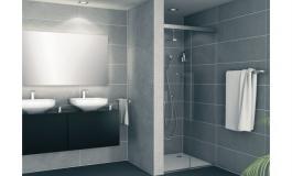 Hafele - Комплект фурнітури для скляних розсувних дверей Banio 40 GF алюміній колір сріблястий  1200 мм - 981.60.009