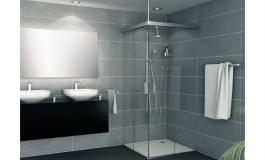 Hafele - Комплект фурнітури для скляних розсувних дверей Banio 40 GFE алюміній колір сріблястий  1200 мм - 981.60.119