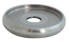 Hafele - Конектор для повздовжнього з'єднання дерев'яного перила нержавіюча сталь  матова  2 шт. - 982.00.211