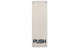 """Hafele - Інформаційна пластина """"Push""""  нержавіюча сталь матова  під шуруп - 987.11.300"""