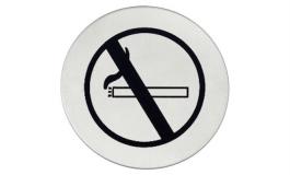 """Hafele - Табличка з символом """"Курити заборонено"""" нержавіюча сталь матова D75мм самоклеюча - 987.21.360"""