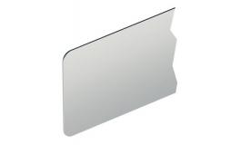 Hafele - Пластина нержавіюча сталь матова 1.5мм заокруглена (розміри замовника) - 987.28.010