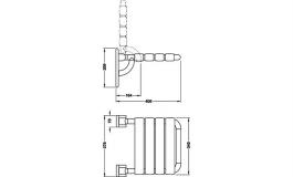 Hafele - Сидіння складне, поліамід колір: сірий 92 - 988.78.092