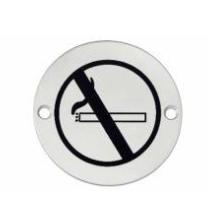 """Hafele - Табличка з символом """"Не палити"""" нержавіюча сталь колір: латунь D75 мм під шуруп - 987.20.078"""